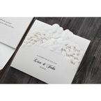 White Cascading Flowers - Wedding invitation - 3