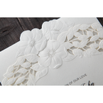 White Cascading Flowers - Wedding invitation - 4
