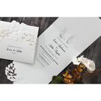 White Cascading Flowers - Wedding invitation - 5