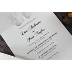 White Cascading Flowers - Wedding invitation - 6