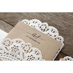 Brown Laser Cut Doily Delight - Wedding invitation - 23