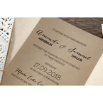 Brown Laser Cut Doily Delight - Wedding invitation - 29