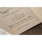 Brown Laser Cut Doily Delight - Wedding invitation - 30