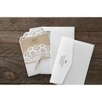 Brown Laser Cut Doily Delight - Wedding invitation - 33