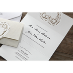 Beige Letters of love - Wedding invitation - 48