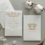 Quilted Half Pocket Royal Elegance - Wedding Invitations - WP309GG - 183826
