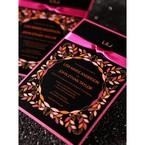 Black Wild Flower Wreath - Hens Night Invitations - 4