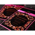 Black Wild Flower Wreath - Hens Night Invitations - 6