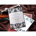 Black Patterned Grandeur - Wedding invitation - 50