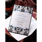 Black Patterned Grandeur - Wedding invitation - 51