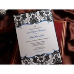 Black Patterned Grandeur - Bridal Shower Invitations - 60
