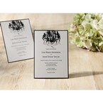 Black Victorian Chandelier - Bridal Shower Invitations - 60