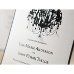 Black Victorian Chandelier - Bridal Shower Invitations - 59