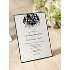 Black Victorian Chandelier - Bridal Shower Invitations - 58