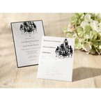 Black Victorian Chandelier - Bridal Shower Invitations - 65