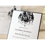 Black Victorian Chandelier - Bridal Shower Invitations - 64