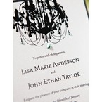 Black Victorian Chandelier - Bridal Shower Invitations - 61