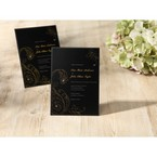 Black Urban Chic with Gold Swirls - Bridal Shower Invitations - 13
