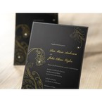 Black Urban Chic with Gold Swirls - Bridal Shower Invitations - 21