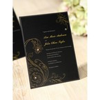 Black Urban Chic with Gold Swirls - Bridal Shower Invitations - 11
