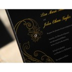 Black Urban Chic with Gold Swirls - Anniversary Cards - 70