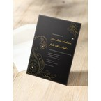 Black Urban Chic with Gold Swirls - Bridal Shower Invitations - 20