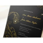 Black Urban Chic with Gold Swirls - Anniversary Cards - 75
