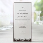 Brown Lace Trimmed Jeweled Couture - Wedding invitation - 54