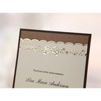 Brown Shimmering Gold Floral Chains - Engagement Invitations - 18