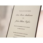 Brown Shimmering Gold Floral Chains - Engagement Invitations - 20