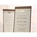 Brown Shimmering Gold Floral Chains - Engagement Invitations - 23
