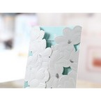 Blue Laser Cut Flower Wrap - Anniversary Cards - 22