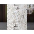 White Laser Cut Floral Lace - Hens Night Invitations - 50