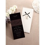 Thermograph printed black inner card with digital design inner card