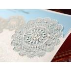 Victorian doily patterns and lace trim lasercut details