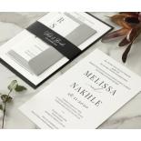 Bold Ebony Letterpress - Wedding Invitations - WP-IC55-LP-04 - 184441