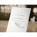 Standard white pocket invitation with diamante lining and gray insertion