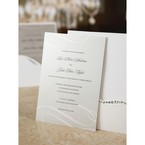 Pulled out wedding invitation insert in silver gray colour and modern swirl pattern
