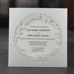 White Enchanted Forest I Laser Cut P - Wedding invitation - 43