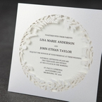 White Enchanted Forest I Laser Cut P - Wedding invitation - 44