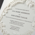 White Enchanted Forest I Laser Cut P - Wedding invitation - 45