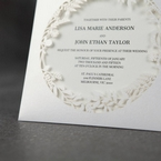 White Enchanted Forest I Laser Cut P - Wedding invitation - 46