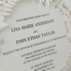 White Enchanted Forest I Laser Cut P - Wedding invitation - 48