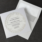 White Enchanted Forest I Laser Cut P - Wedding invitation - 50