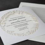 White Enchanted Forest I Laser Cut P - Wedding invitation - 51
