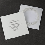 White Enchanted Forest I Laser Cut P - Wedding invitation - 53