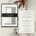 Bold Ebony Letterpress - Wedding Invitations - WP-IC55-LP-04 - 184442