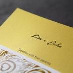 Yellow/Gold Mystic Forest Band Laser Cut - Wedding invitation - 11
