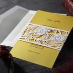 Yellow/Gold Mystic Forest Band Laser Cut - Wedding invitation - 13