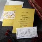 Yellow/Gold Mystic Forest Band Laser Cut - Wedding invitation - 16